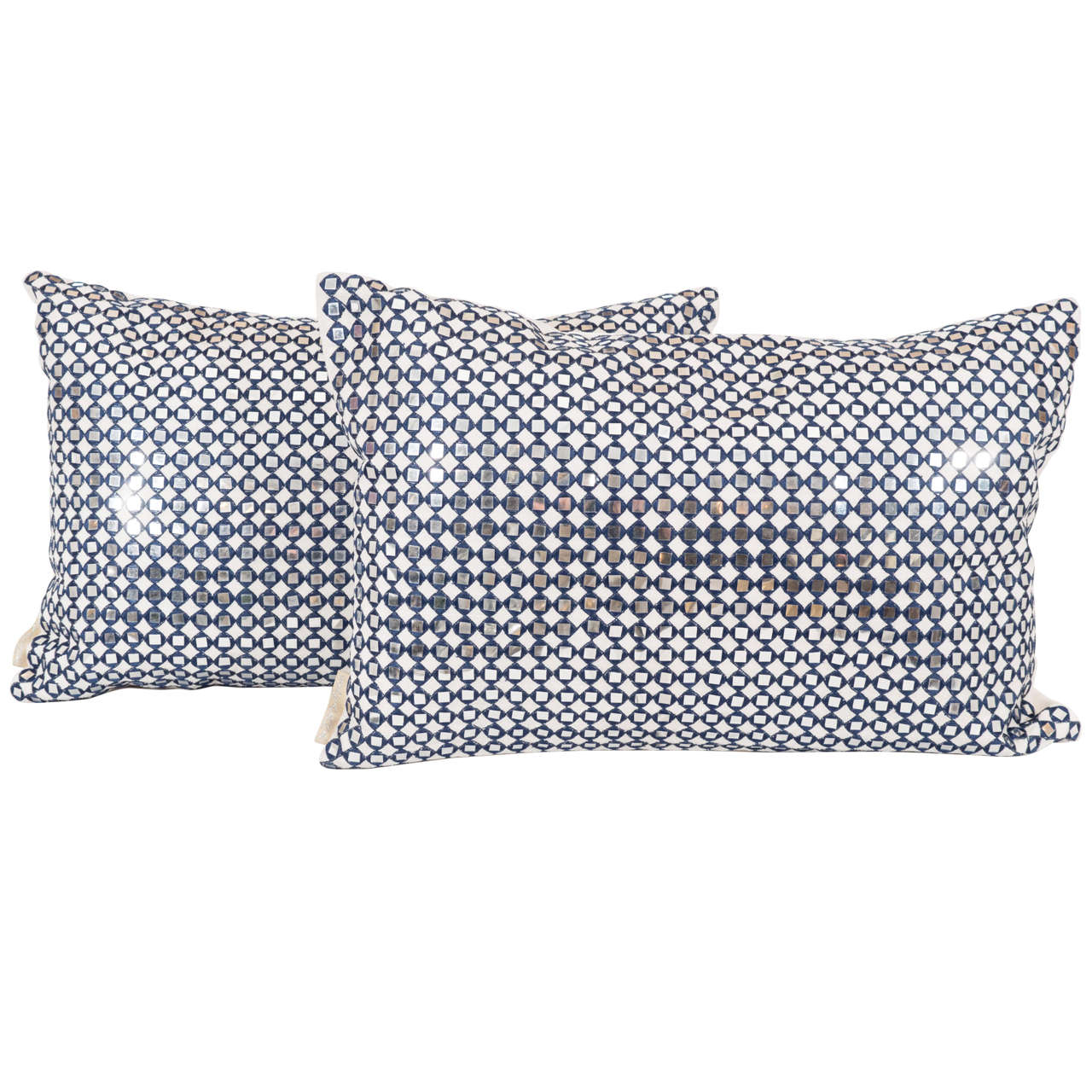 Pair of Sparkly Pillows For Sale