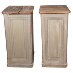 Pair of Painted Wood Pedestals