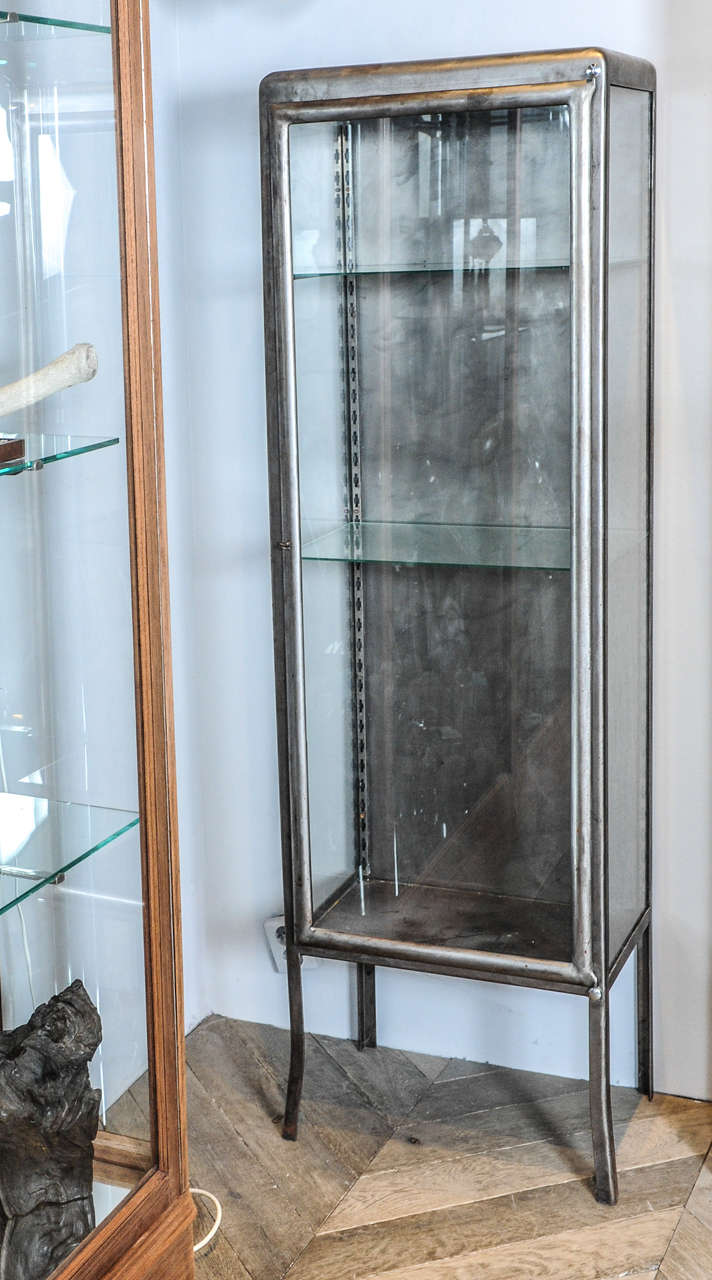 Metal Glass Display Cabinet A 1930s French Wrought Iron And Glass Display Cabinet Vitrine At
