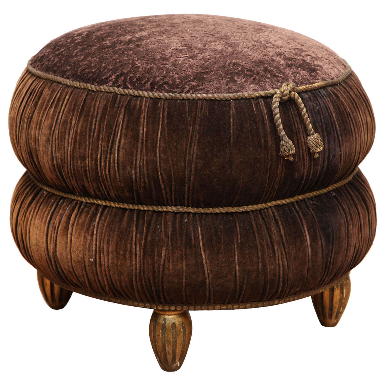 elegant art deco pouf at 1stdibs. Black Bedroom Furniture Sets. Home Design Ideas