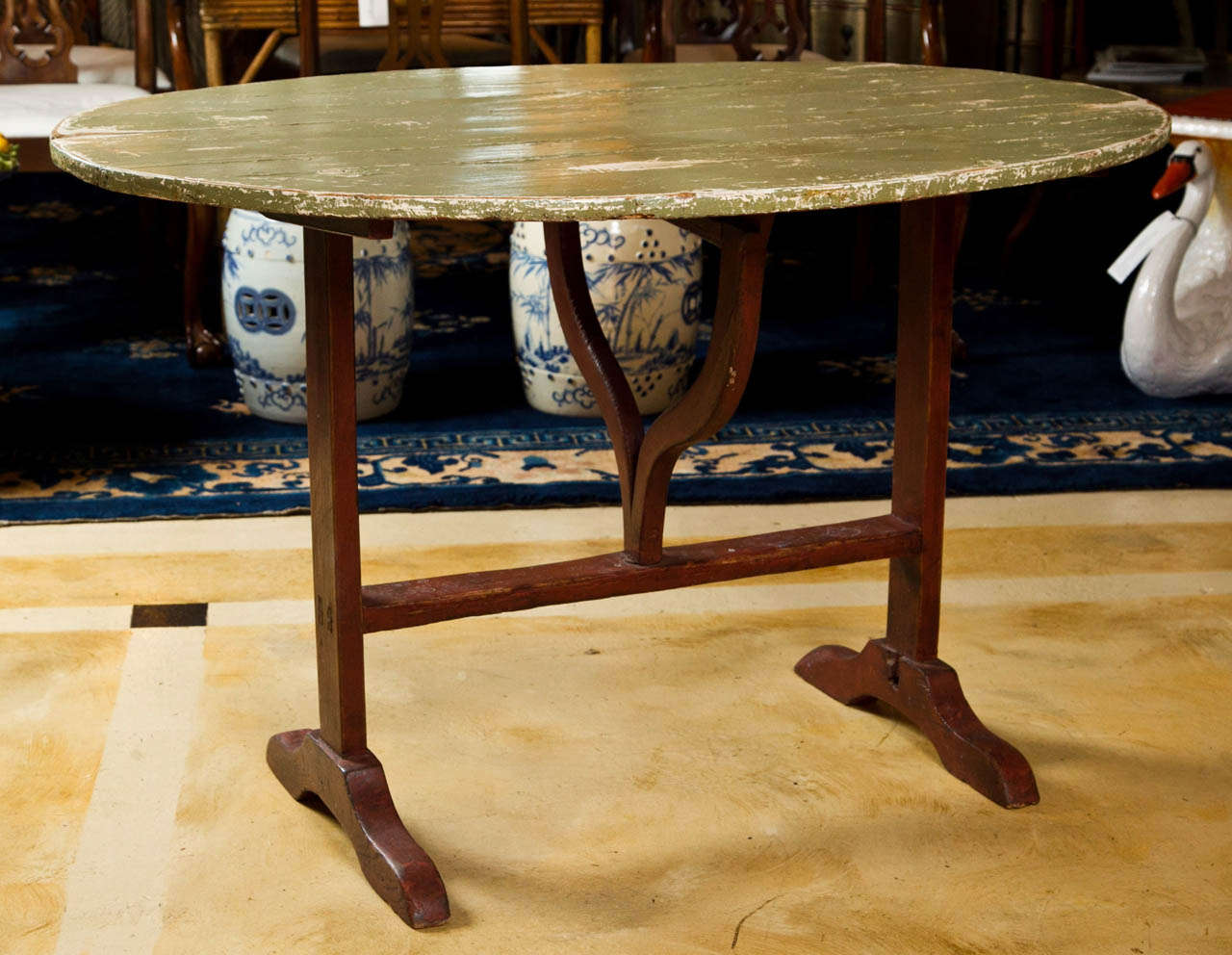 French wine tasting table at 1stdibs fabulous french wine tasting table original painted top the perfect touch of rustic for workwithnaturefo