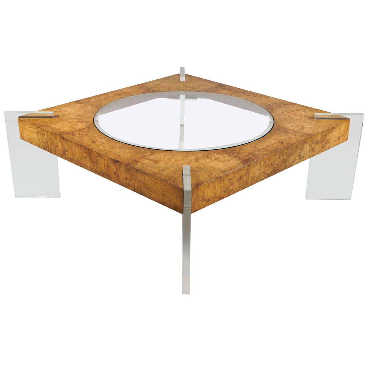 1970 39 S Burled Walnut Coffee Table By Vladimir Kagan At 1stdibs
