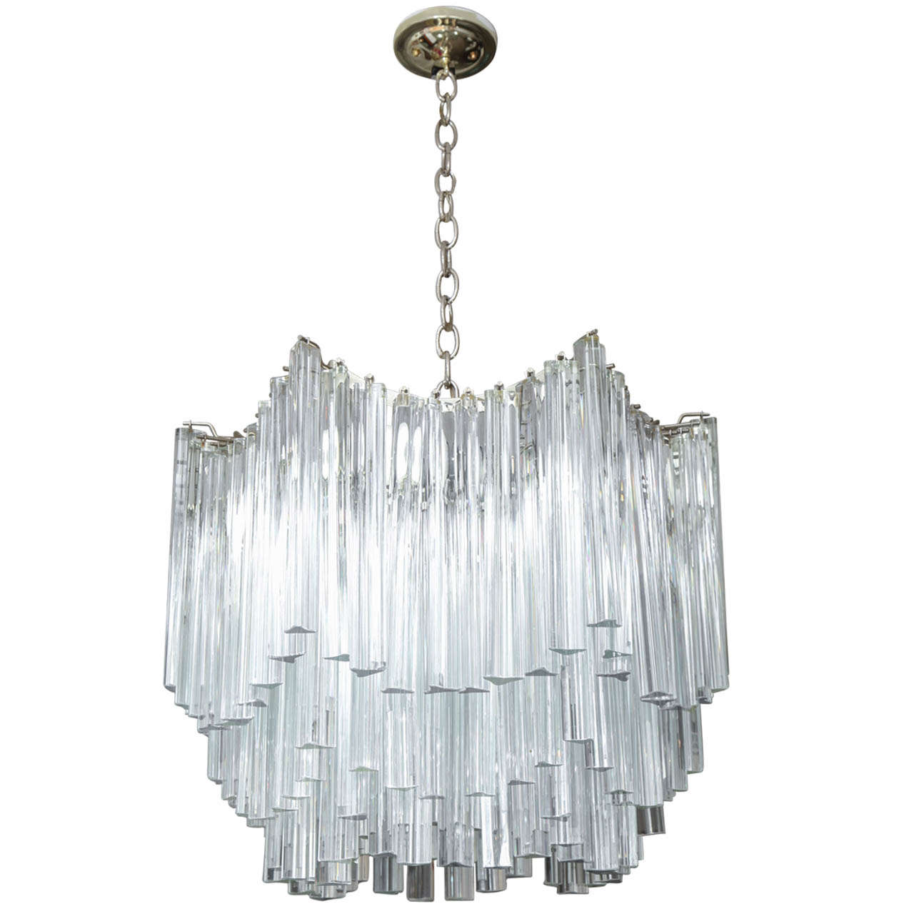 Six Tier Venini Chandelier At 1stdibs