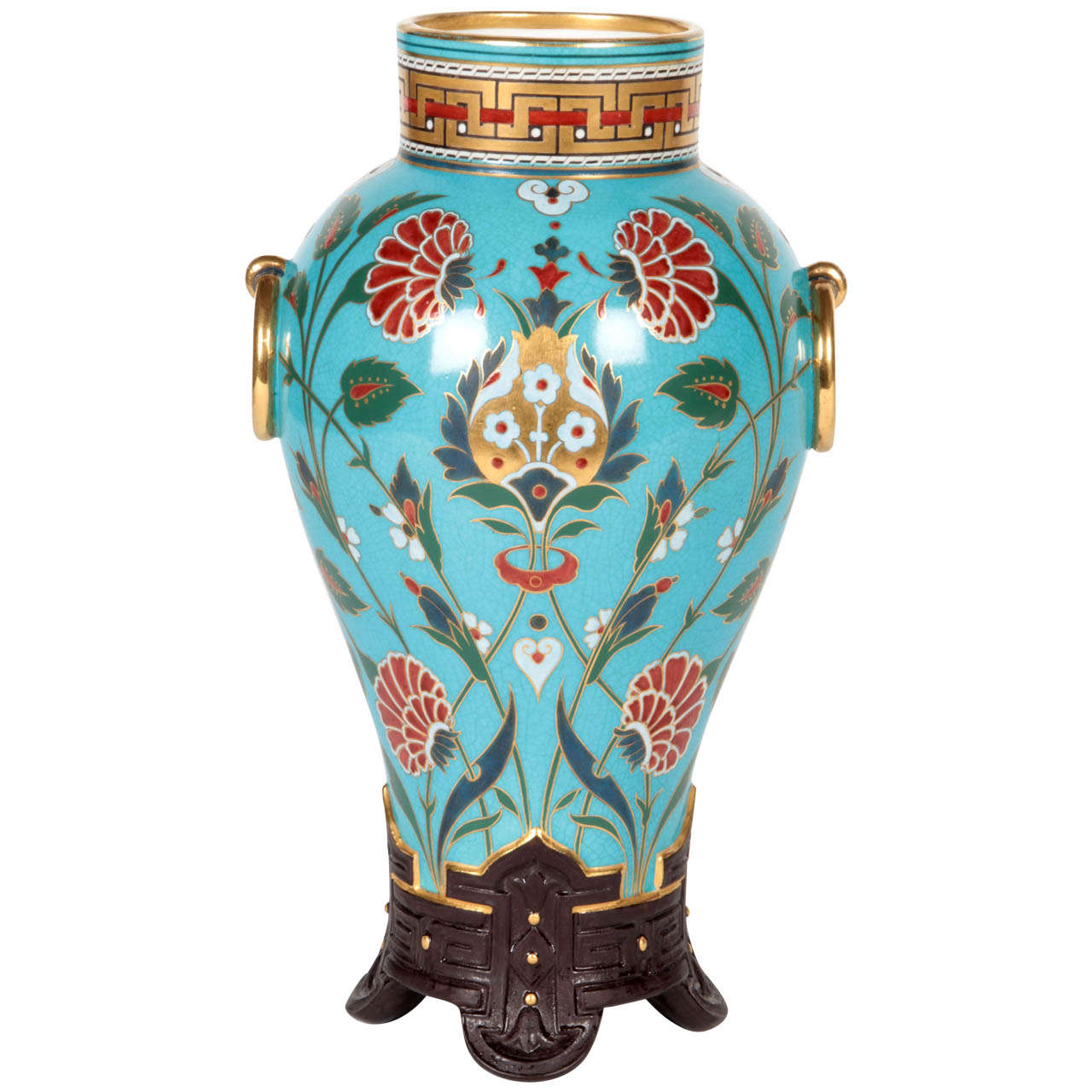 christopher dresser minton aesthetic movement cloisonn vase 1867 at 1stdibs. Black Bedroom Furniture Sets. Home Design Ideas