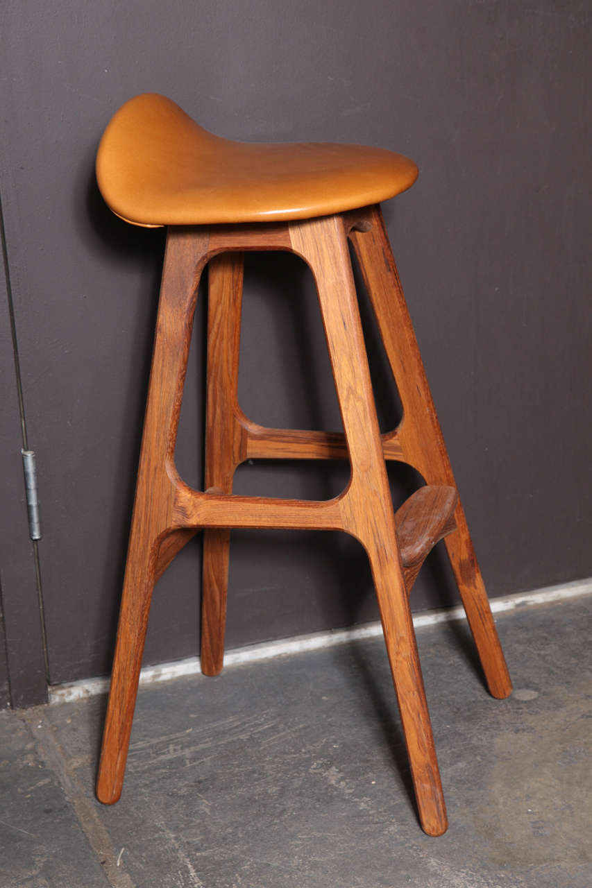 Erik buch od61 bar stools set of 3 at 1stdibs - Erik buch bar stool ...