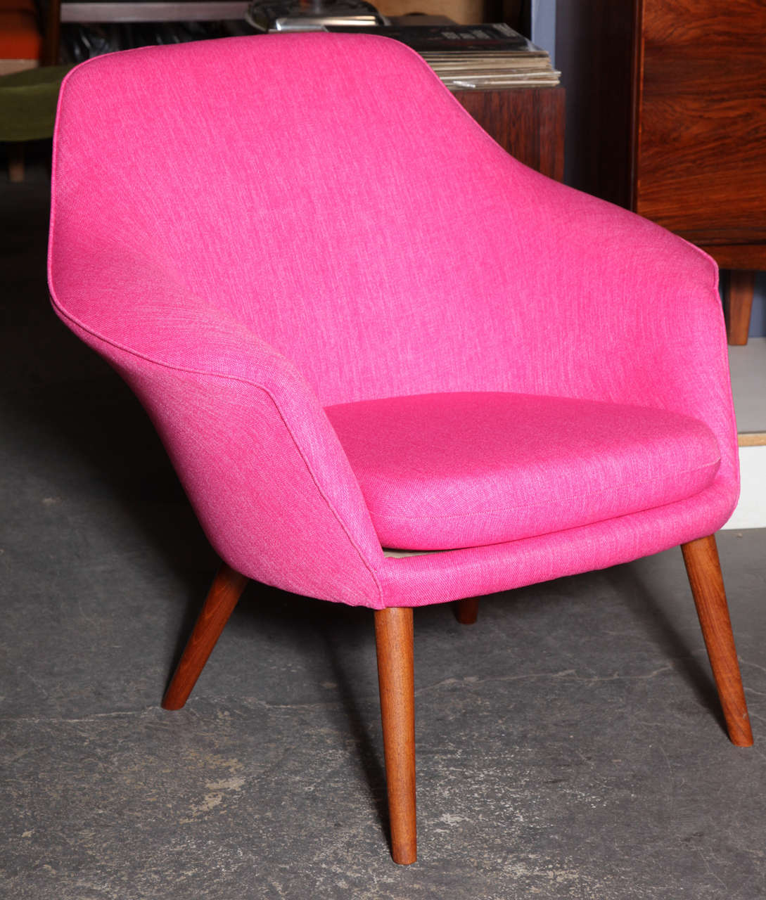 Pink Shell Or Womb Chair By Hans Olsen At 1stdibs
