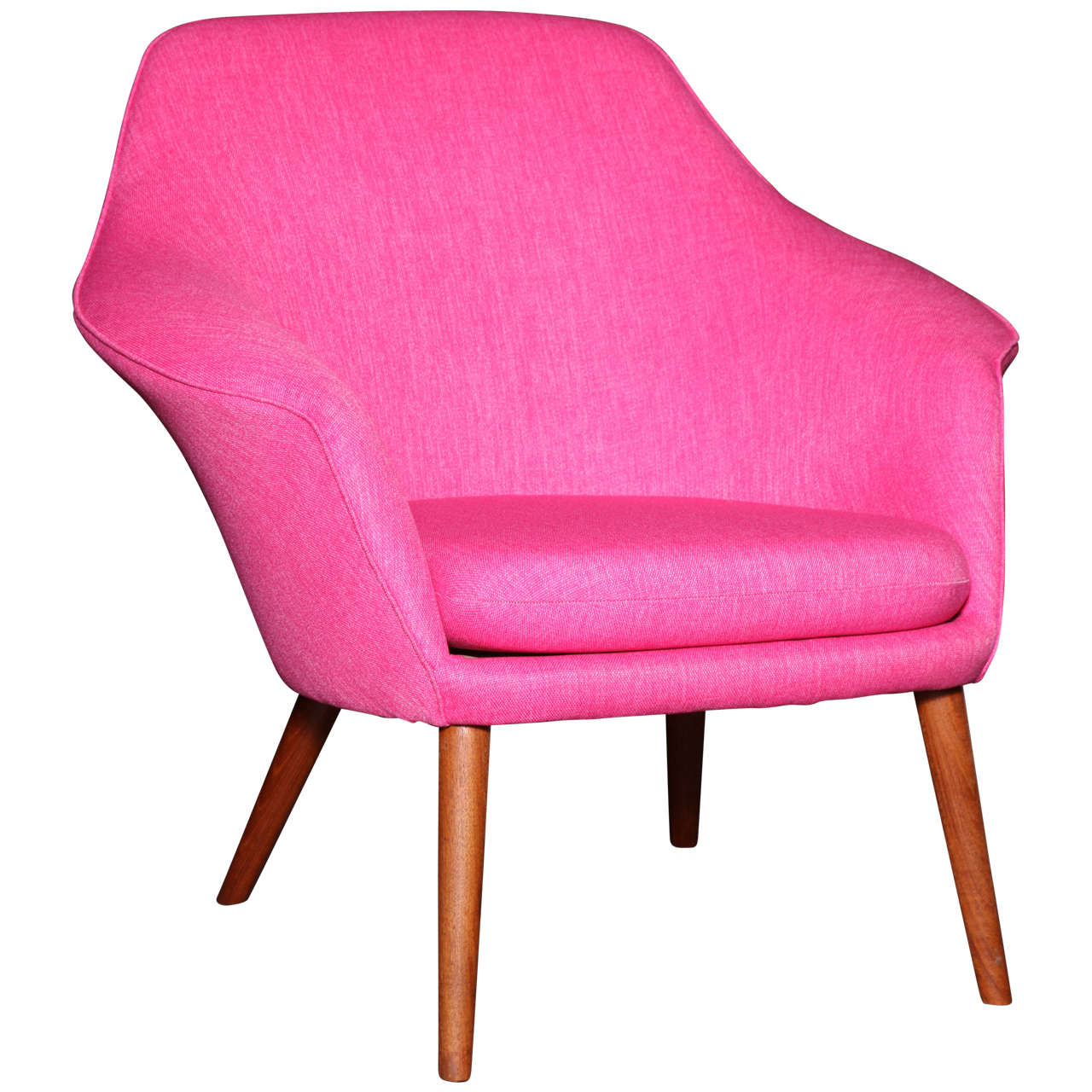 Pink Shell or Womb Chair by Hans Olsen 1