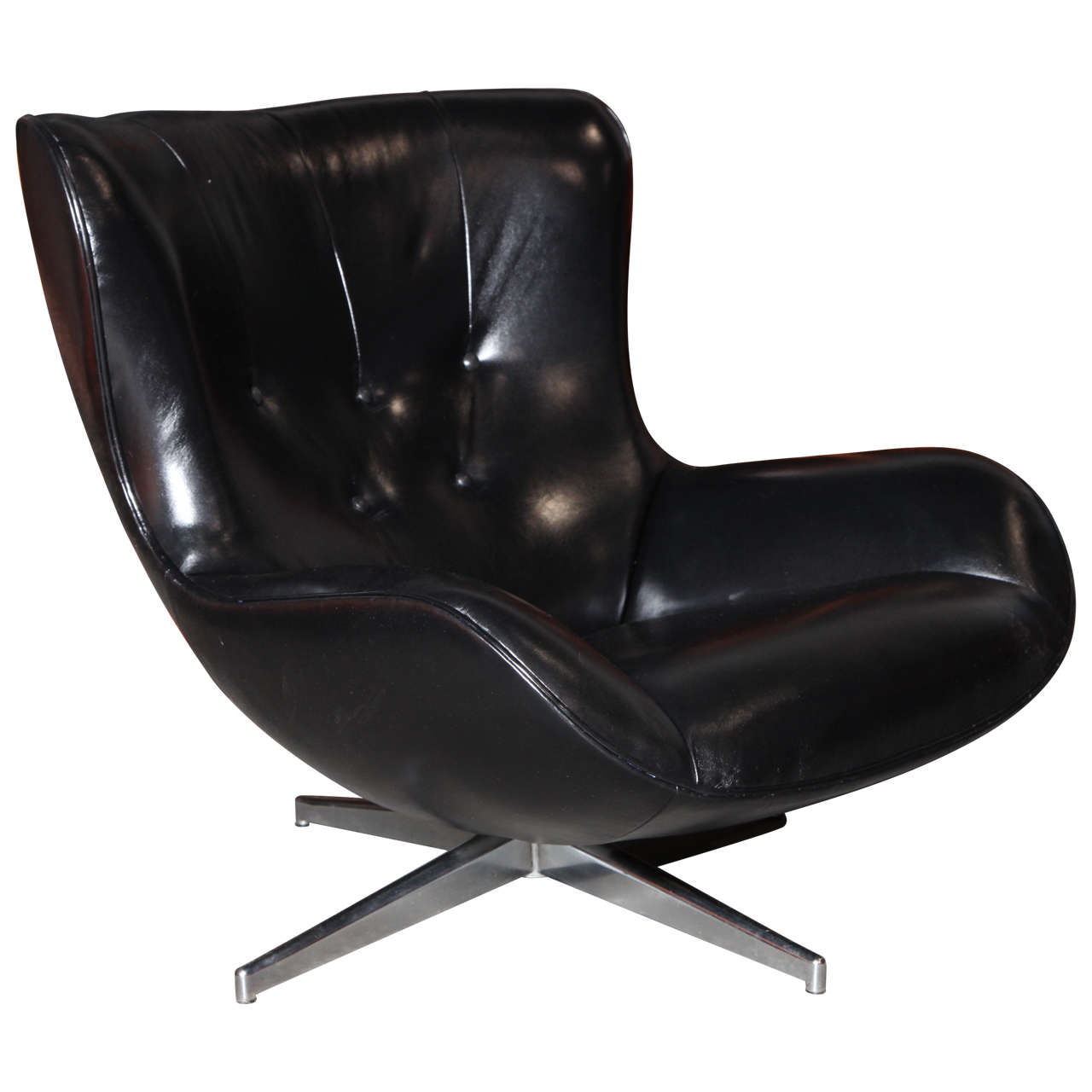 Ml214 Leather Club Chair By Illum Wikkelso At 1stdibs
