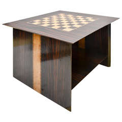 1960's Middle Eastern Checkers Games Table