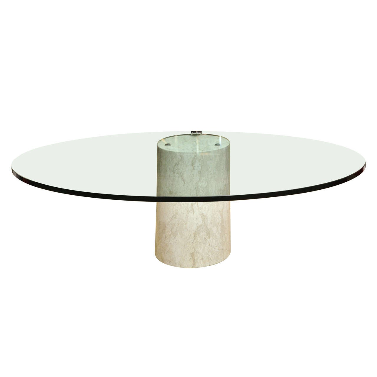 Oval Vintage Cantilevered Cocktail Table By Ronald Schmitt At 1stdibs