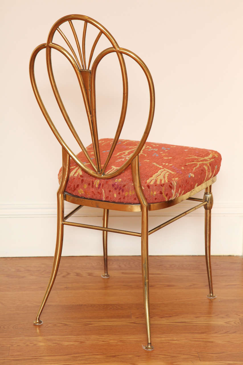 Set of 2 1960s Chiavari Brass Chairs For Sale 1