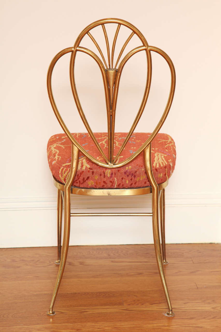 Set of 2 1960s Chiavari Brass Chairs For Sale 2