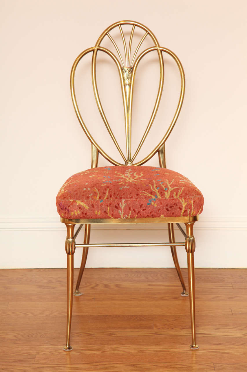 Set of 2 1960s Chiavari Brass Chairs For Sale 3