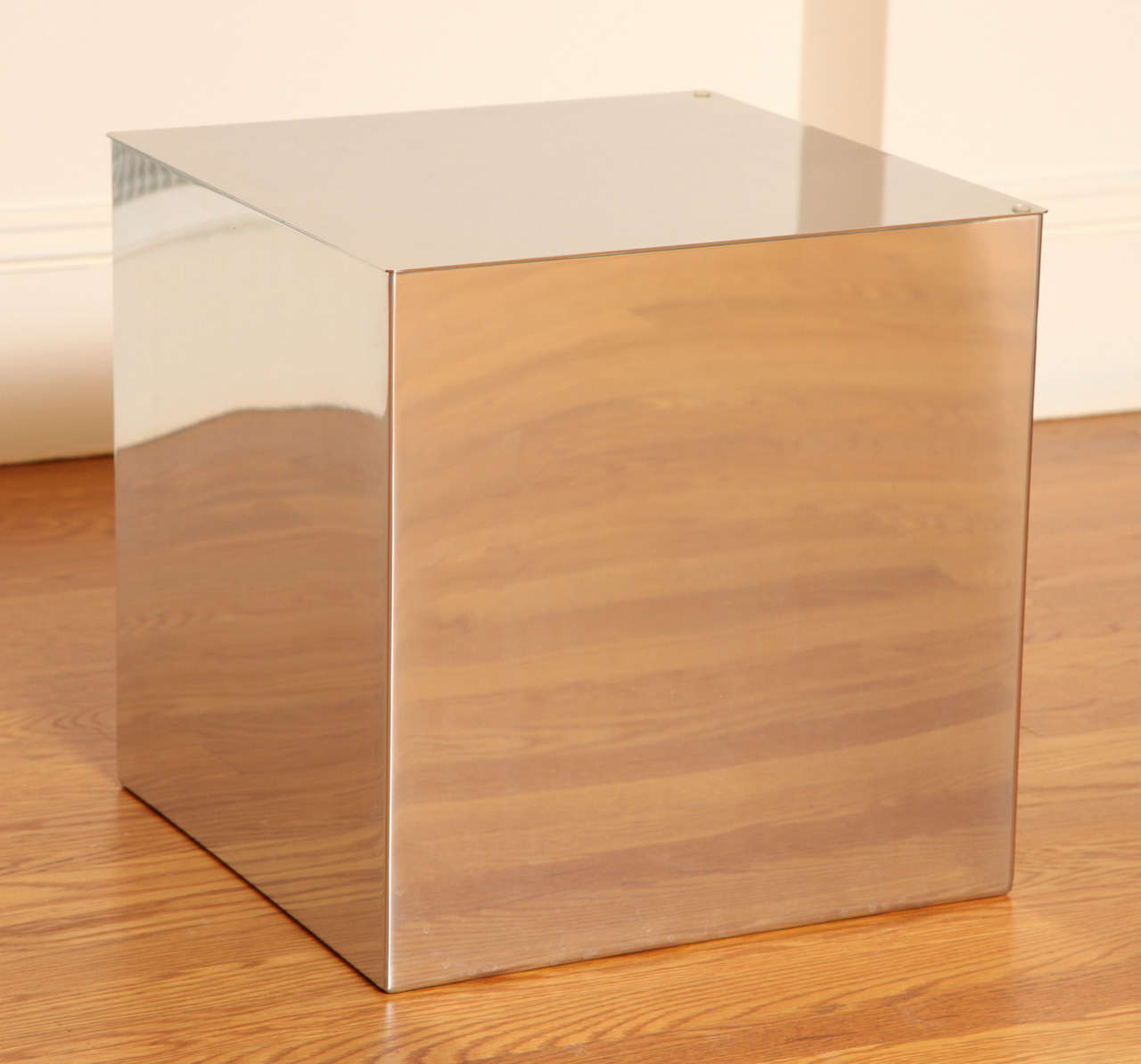 Pair Of Habitat Mirrored Cube Tables 2