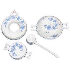 Blue and White Faience Cooking Utensils