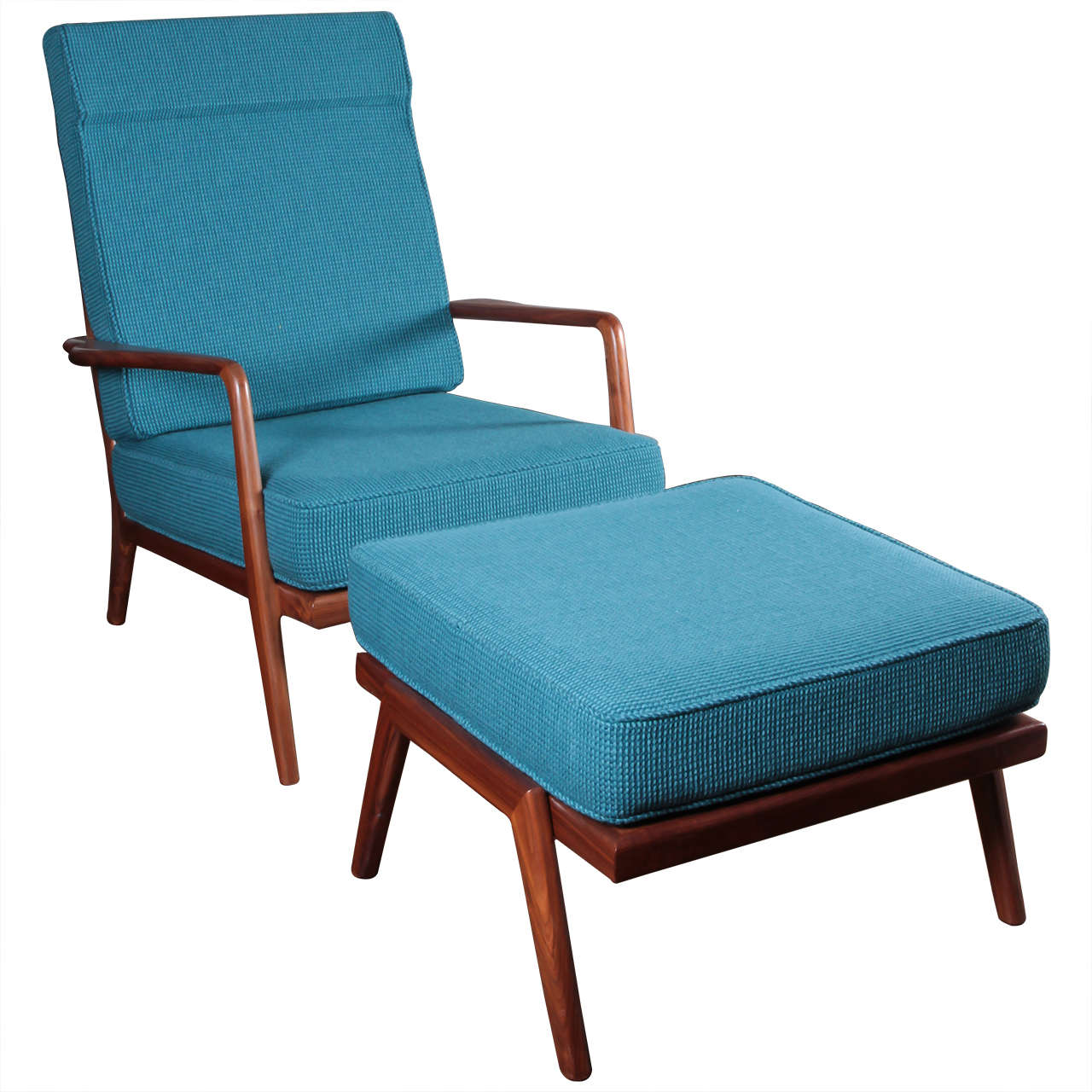 Vintage Solid Walnut Lounge Chair  by Mel Smilow
