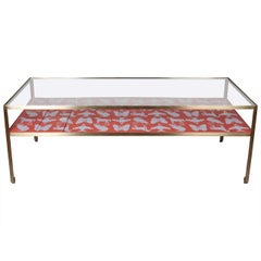 Limited Edition Angle Steel Coffee Table with Dylan Egon Silk Screened Slats