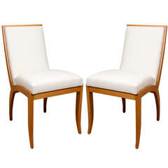 Pair of Modern Oak Dining Chairs