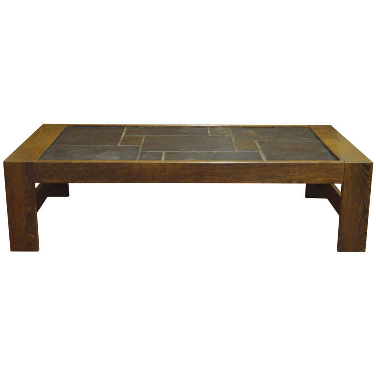 1970s french wenge ardoise coffee table at 1stdibs Wenge coffee tables