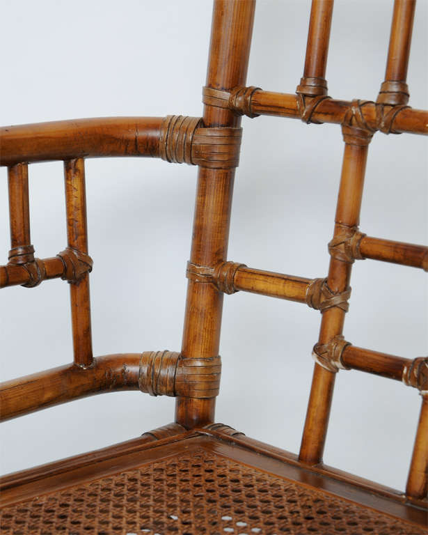 chair 9 baker old baker bamboo chair at 1stdibs
