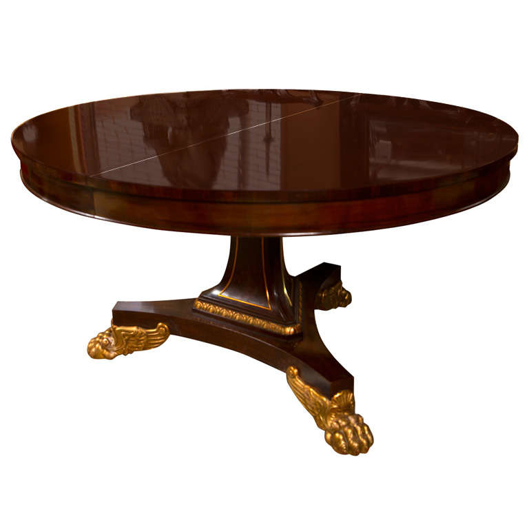 Empire Style Mahogany Dining Table By Baker 1