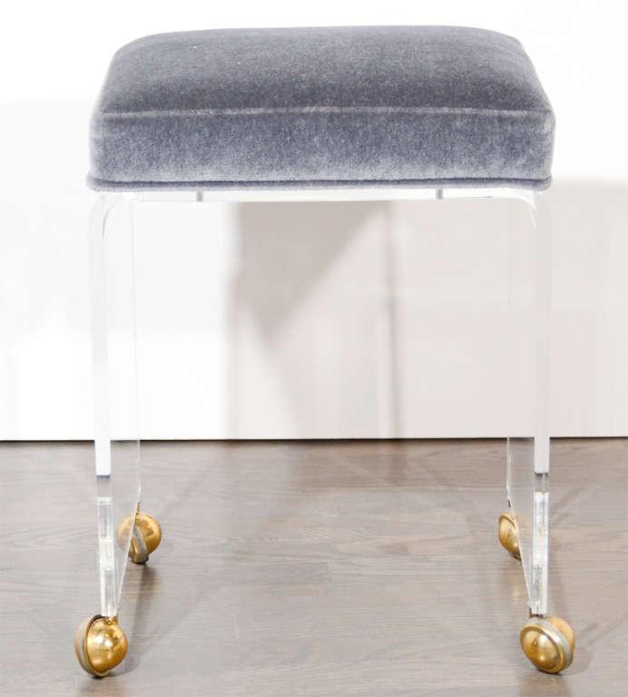 modernist lucite waterfall vanity stool at 1stdibs