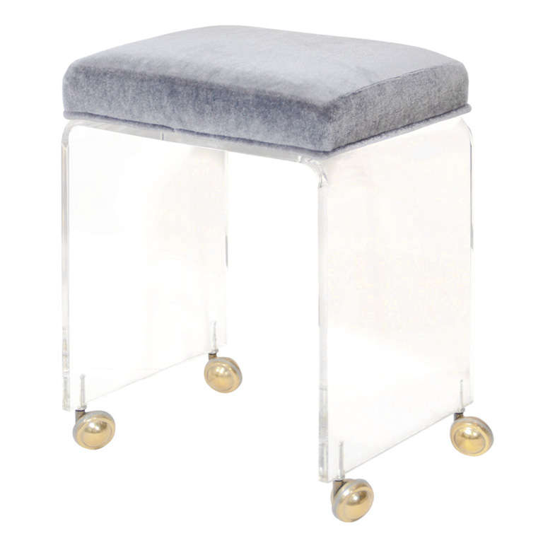 Modernist Lucite Waterfall Vanity Stool At 1stdibs