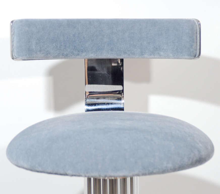 Modernist Klismos Back Swivel Vanity Stool Image 4