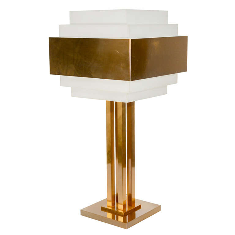 Art Deco Skyscraper Style Lamp By Jean Perzel At 1stdibs