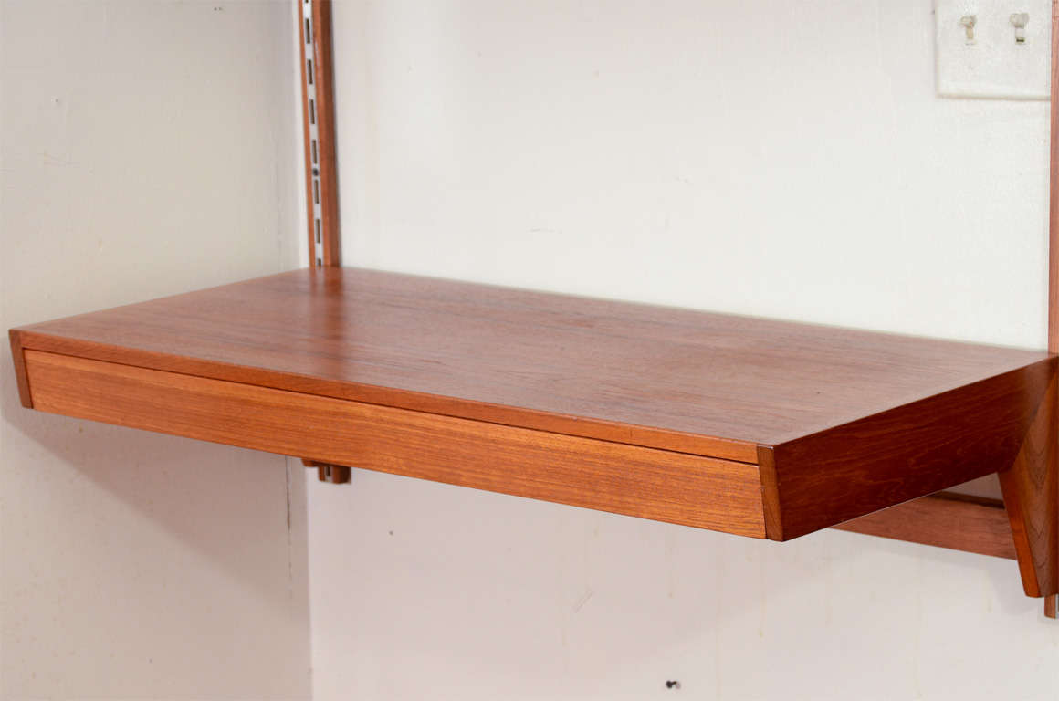 Danish Modern Wall Mounted Desk At 1stdibs