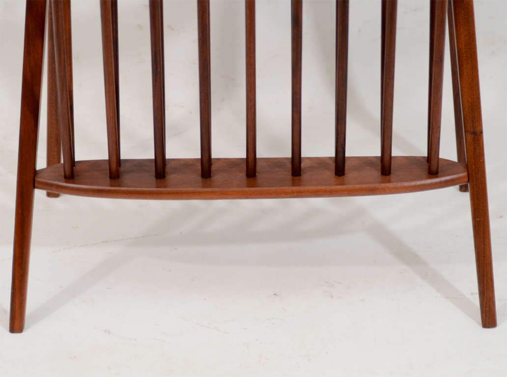 20th Century Walnut Side Table with Magazine Rack by Arthur Umanoff For Sale