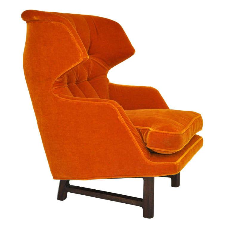 Dunbar wingback lounge chair edward wormley at 1stdibs - Edward wormley chairs ...