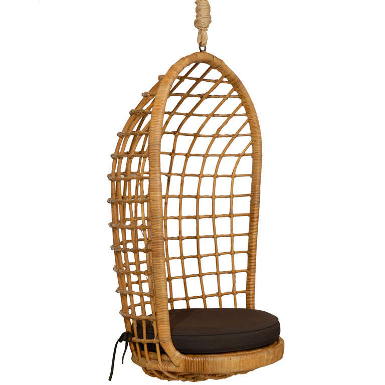 Rattan Hanging Chair At 1stdibs