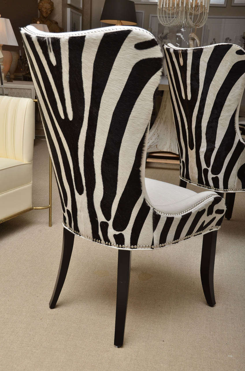 Set of Eight Zebra Stenciled Cowhide Dining Chairs at 1stdibs : DSC6628 from 1stdibs.com size 848 x 1280 jpeg 145kB