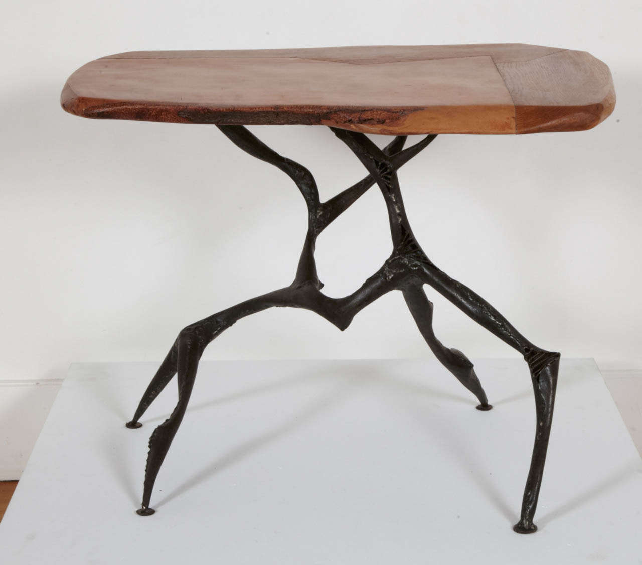 Iron And Oak Coffee Side Table 2013 By Manuel Simon At 1stdibs
