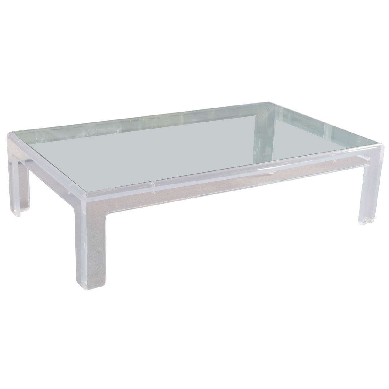 for Large lucite coffee table