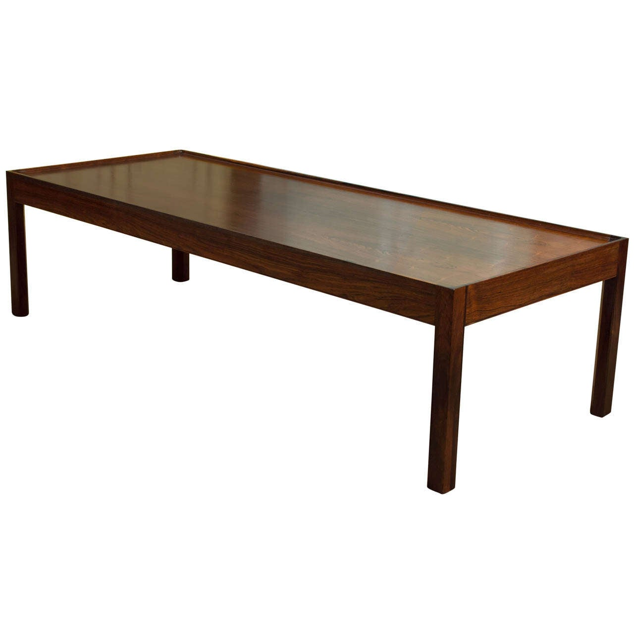 Classic danish modern rosewood coffee table by bovirke for Modern classic table