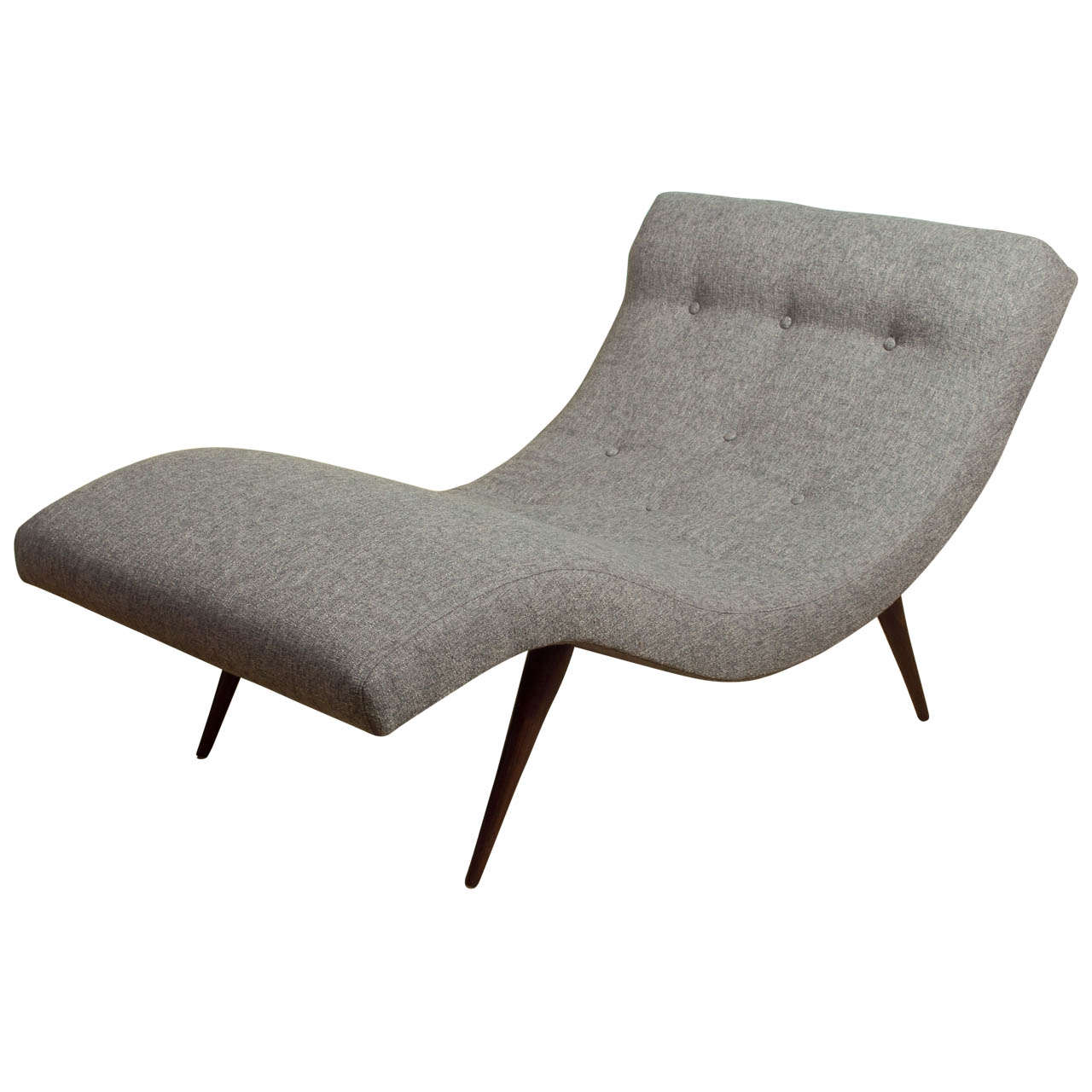 Gray adrian persall chaise lounge for craft associates at for Best price chaise lounge
