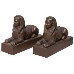 Pair of Egyptian Revival Sphinx Bookends