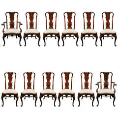Unique Set of Turn of the Century, English Dining Chairs