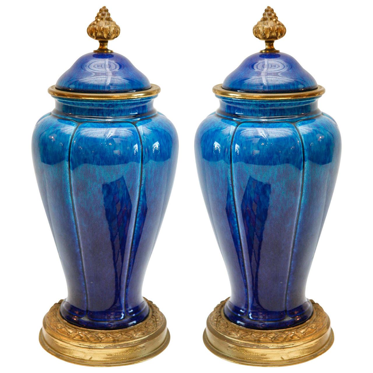 Striking, Sevres , Lidded Urns