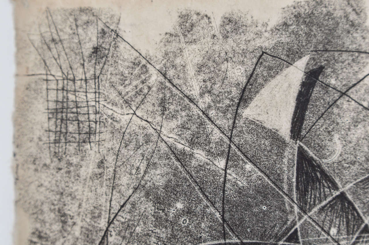 American 1940s Monotype by Harry Bertoia For Sale