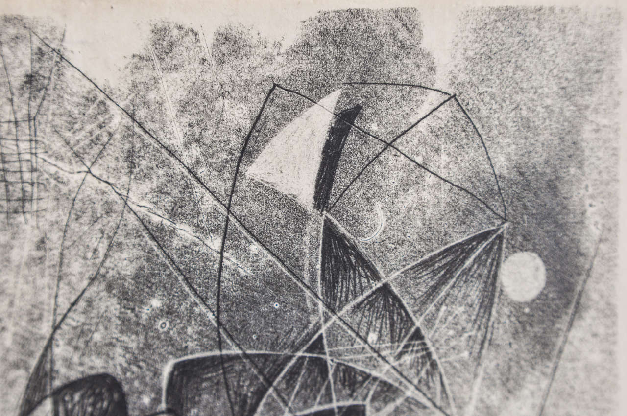 1940s Monotype by Harry Bertoia For Sale 1
