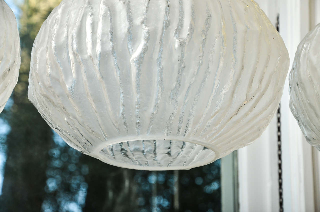 Frosted and Clear Murano Glass