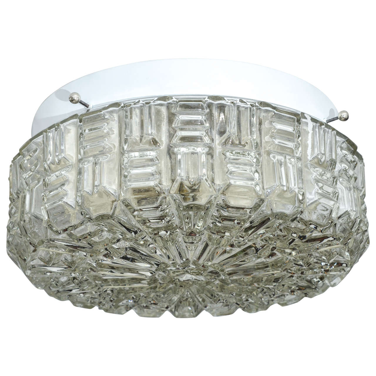 Clear textured glass flush mount ceiling fixture for sale at 1stdibs clear textured glass flush mount ceiling fixture for sale aloadofball Choice Image