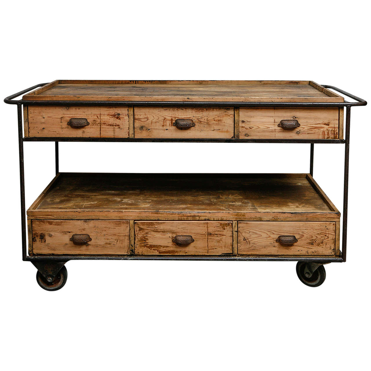 Sideboard Industrial industrial trolley sideboard circa 1900 at 1stdibs