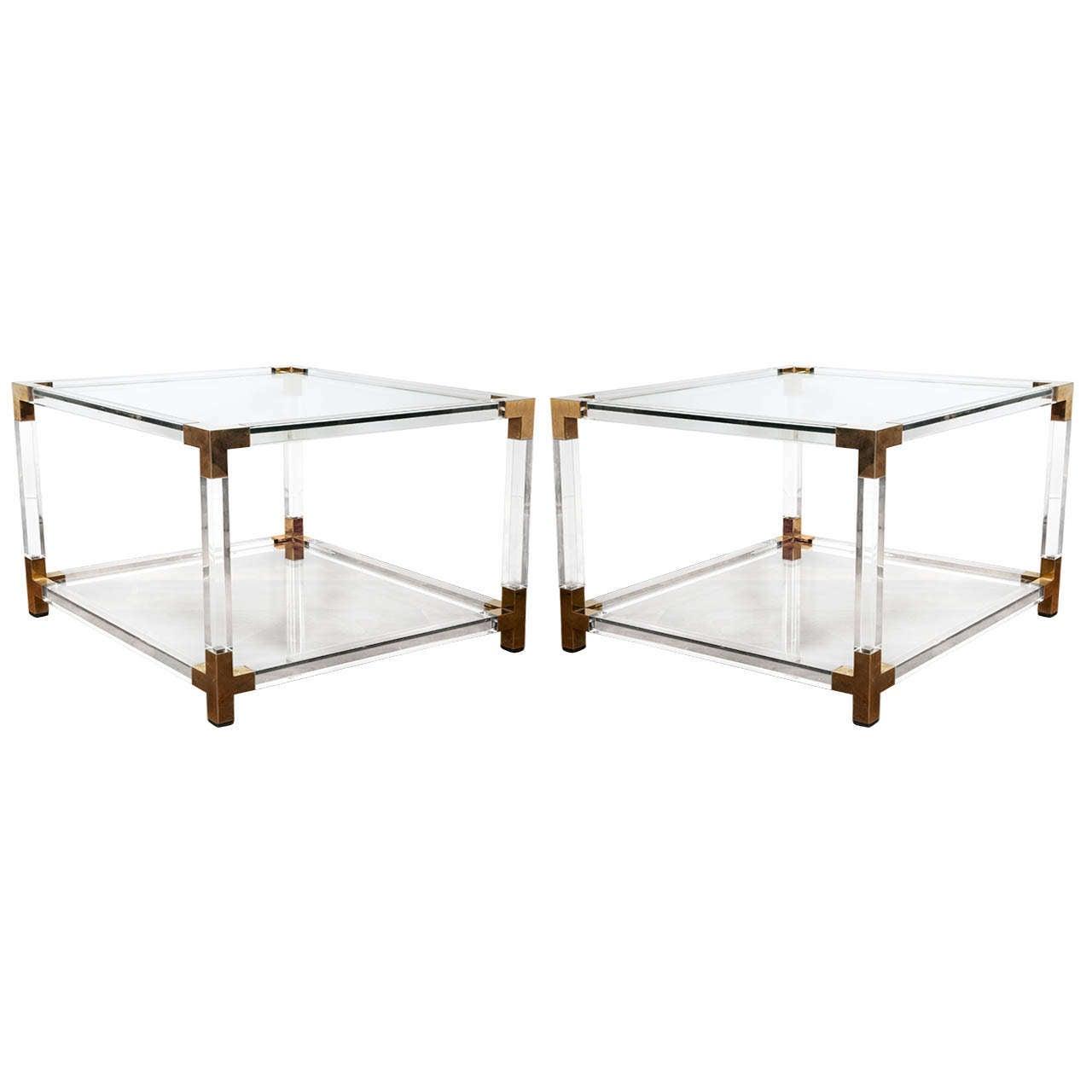 Elegant Pair Of End Tables In The Manner Of Pierre Vandel At 1stdibs