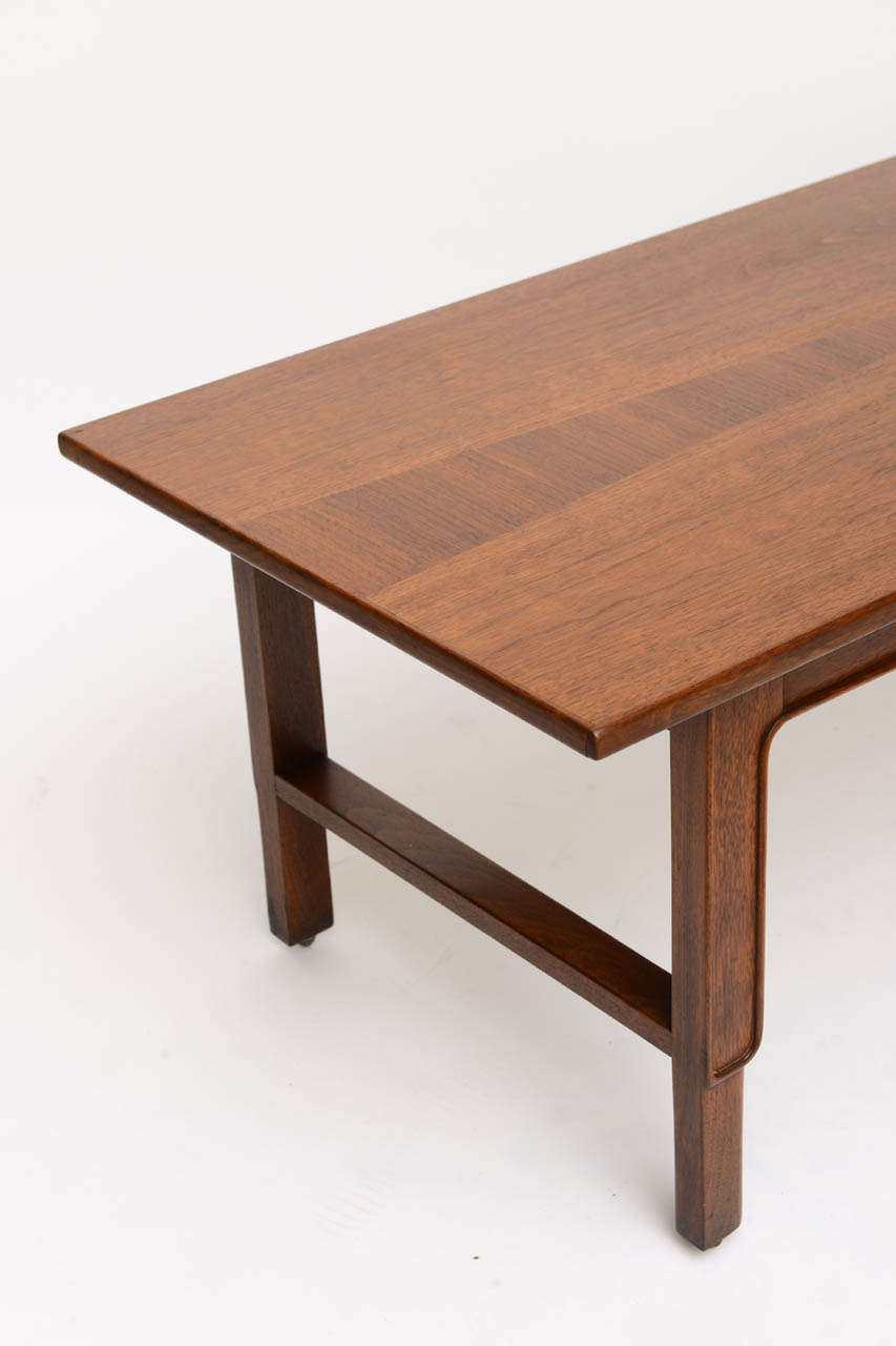American John Stuart Janus Collection Long Board Coffee Cocktail Table For Sale