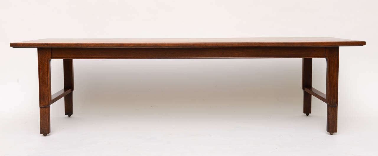Walnut John Stuart Janus Collection Long Board Coffee Cocktail Table For Sale