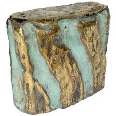 A Brutalist Bronze Sculpture/Stool